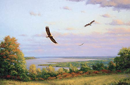 <i>Eagles Over Lake Pepin</i>