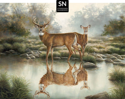Tranquil Waters—Whitetail Deer;  Master Artisan Collection — Standard Numbered Edition (SN).