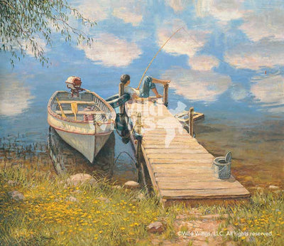 Day Dreams-Boy Fishing Art Collection