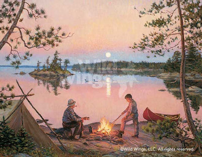 Moonrise in Canoe Country Art Collection