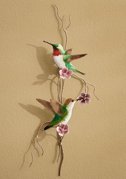 Hummingbird Enamel Wall Art