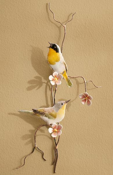 Yellow-Throated Warblers Enamel Wall Art