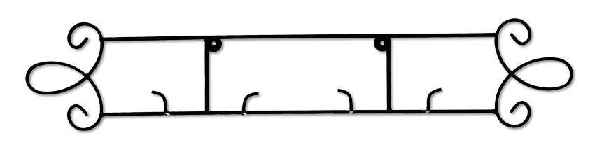 2—Plate Horizontal Metal Scroll.