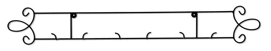 3—Plate Horizontal Metal Scroll.