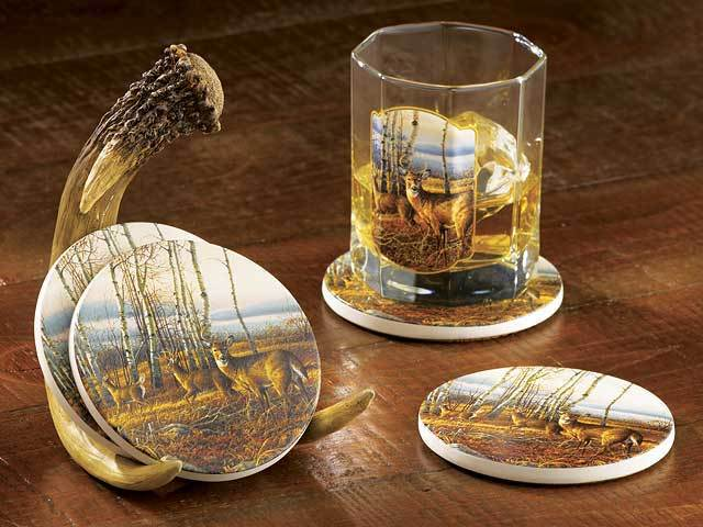 The Birch Line—deer Coasters