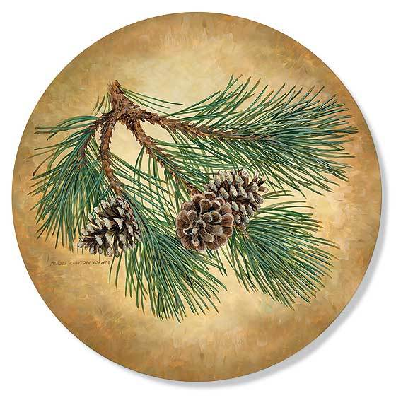 Pinecone Coasters
