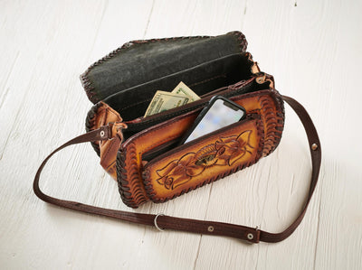 Tan Tooled Leather Barrel - Wild Wings