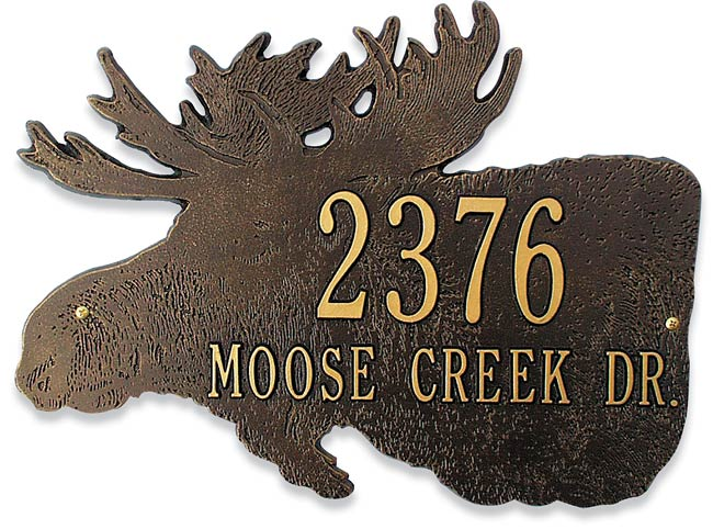 Wildlife Address Plaque