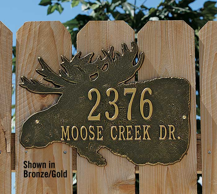 Moose Address Plaque