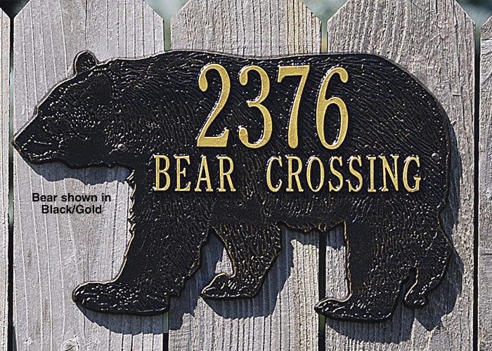 Bear Crossing Address Plaque