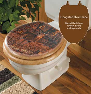 Whitetail Deer Elongated Toilet Seat
