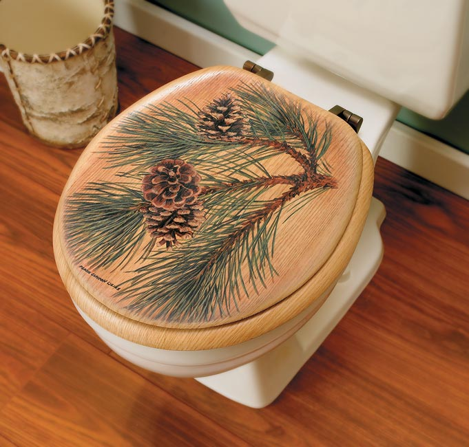 Pinecone Elongated Toilet Seat