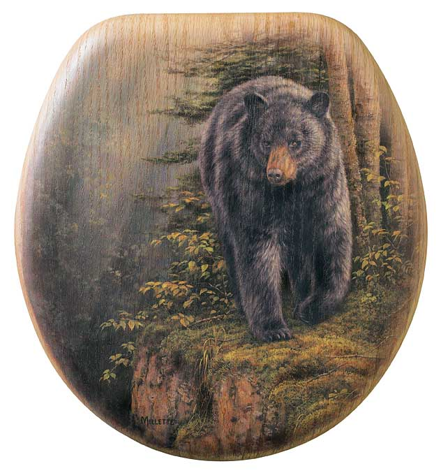 Bear Elongated Toilet Seat