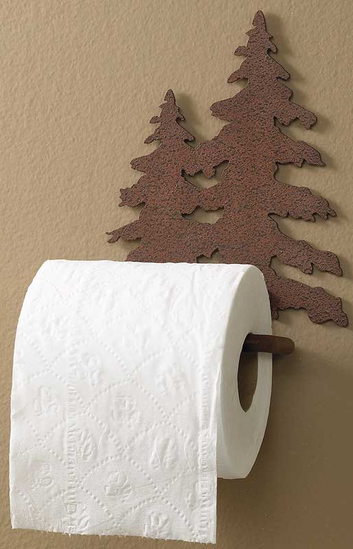 Pine Tree Toilet Paper Holder