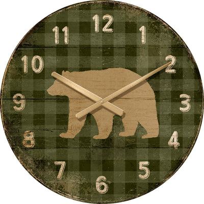 Bear on Green Plaid.