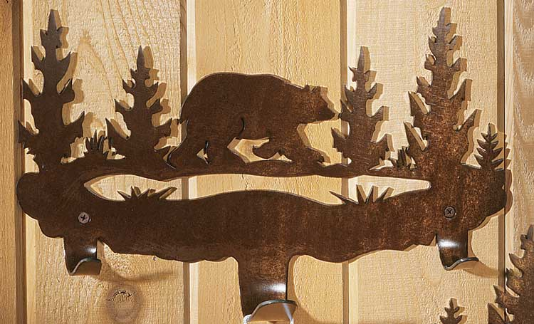 Cut Steel Bear Towel Rack