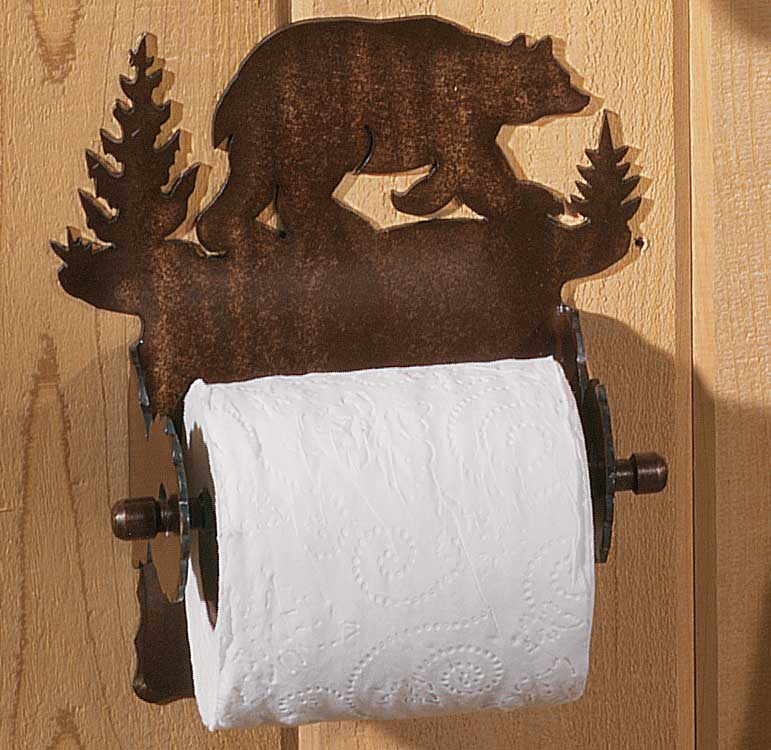 Cut Steel Bear Toilet Paper Holder
