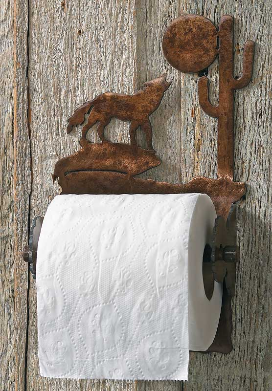 Southwest Coyote Toilet Paper Holder