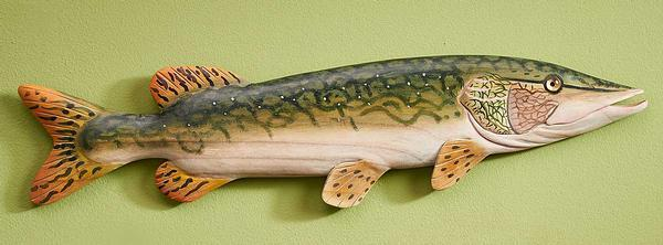 Northern Pike Wood Wall Decor