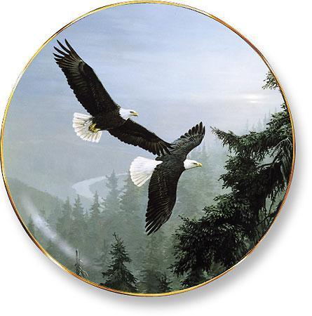 Above The Mist—bald Eagles Collector Plate