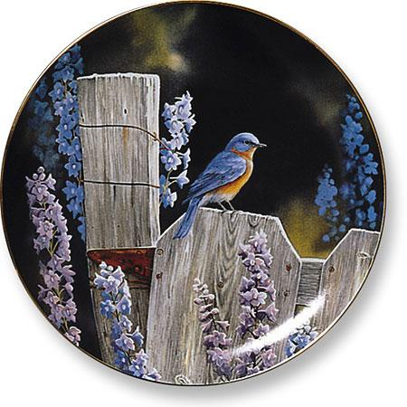 <I>Back To Nature&mdash;bluebird</i> Collector Plate