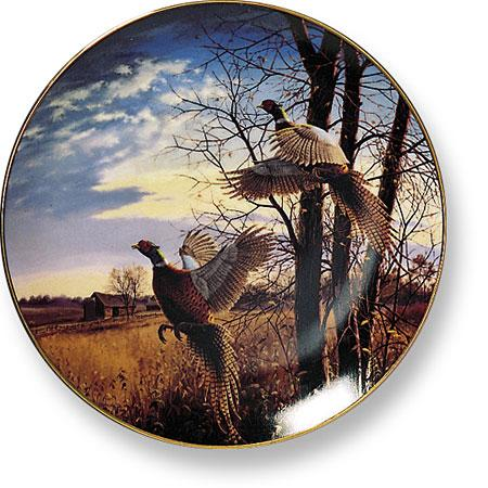 Evening Flight—pheasant Collector Plate