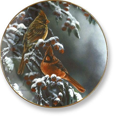 Winter Cardinal Collector Plate