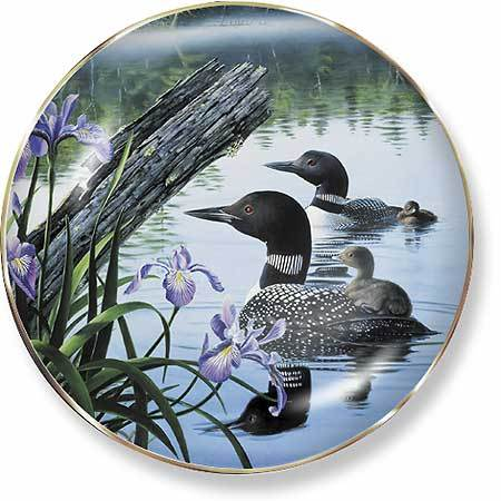 Seasons Of The Lake—loons Collector Plate