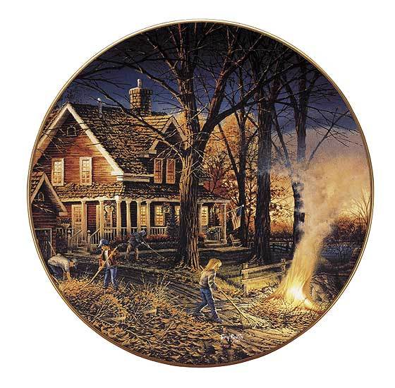 Autumn Evening Collector Plate