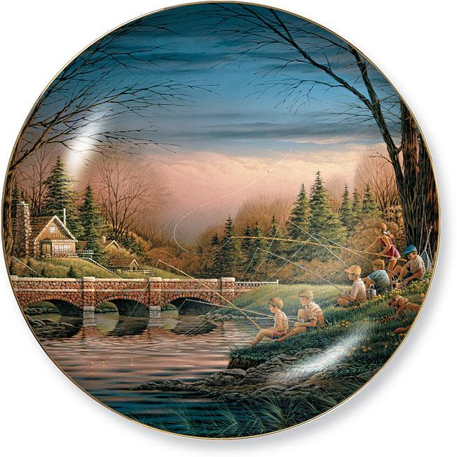 Spring Fishing Collector Plate