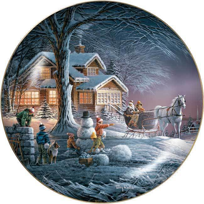 Winter Wonderland Collector Plate