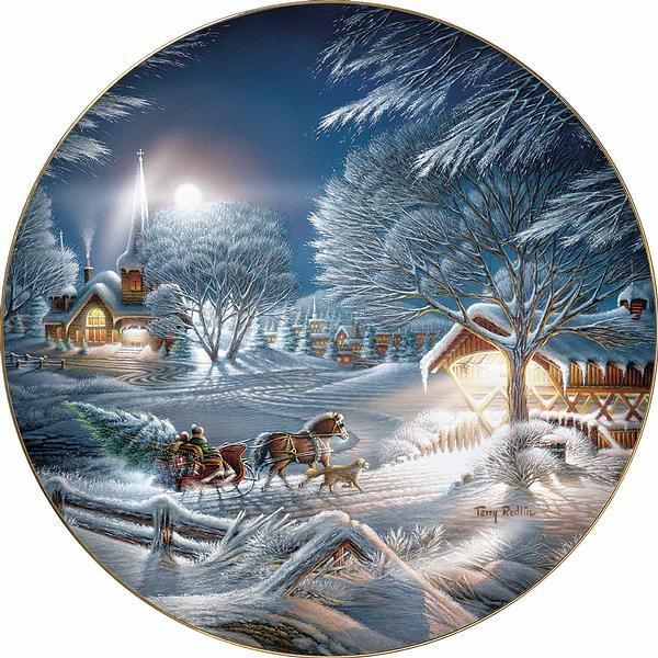 Evening Frost Collector Plate
