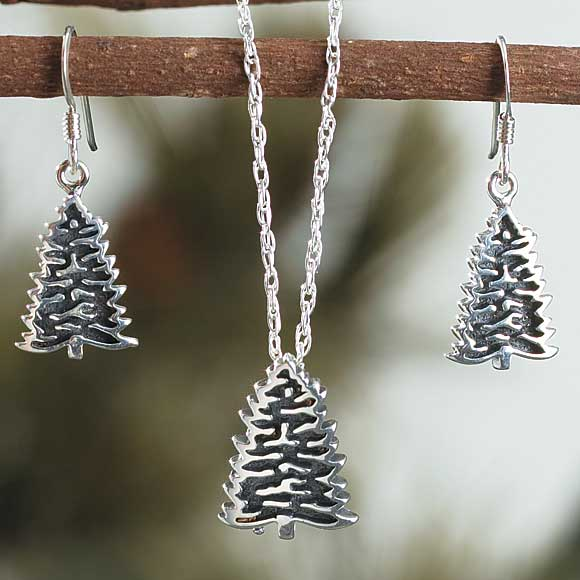 Silver Pine Tree Jewelry Collection