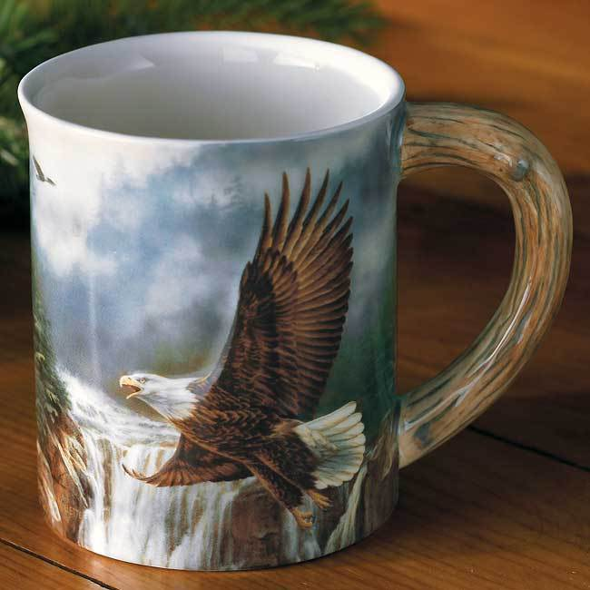 Bald Eagle Sculpted Mug