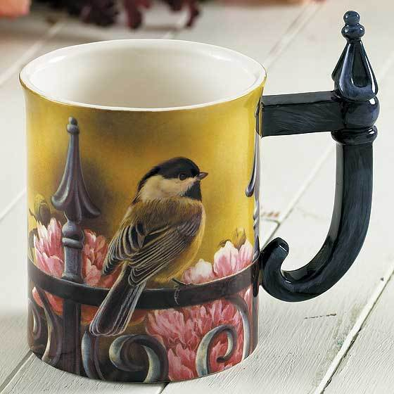Chickadee Sculpted Mug