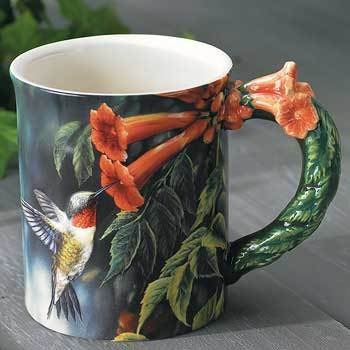 Hummingbird Sculpted Mug