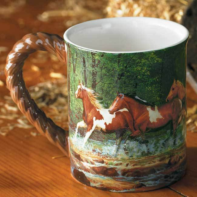 Spring Creek Horse Sculpted Mug