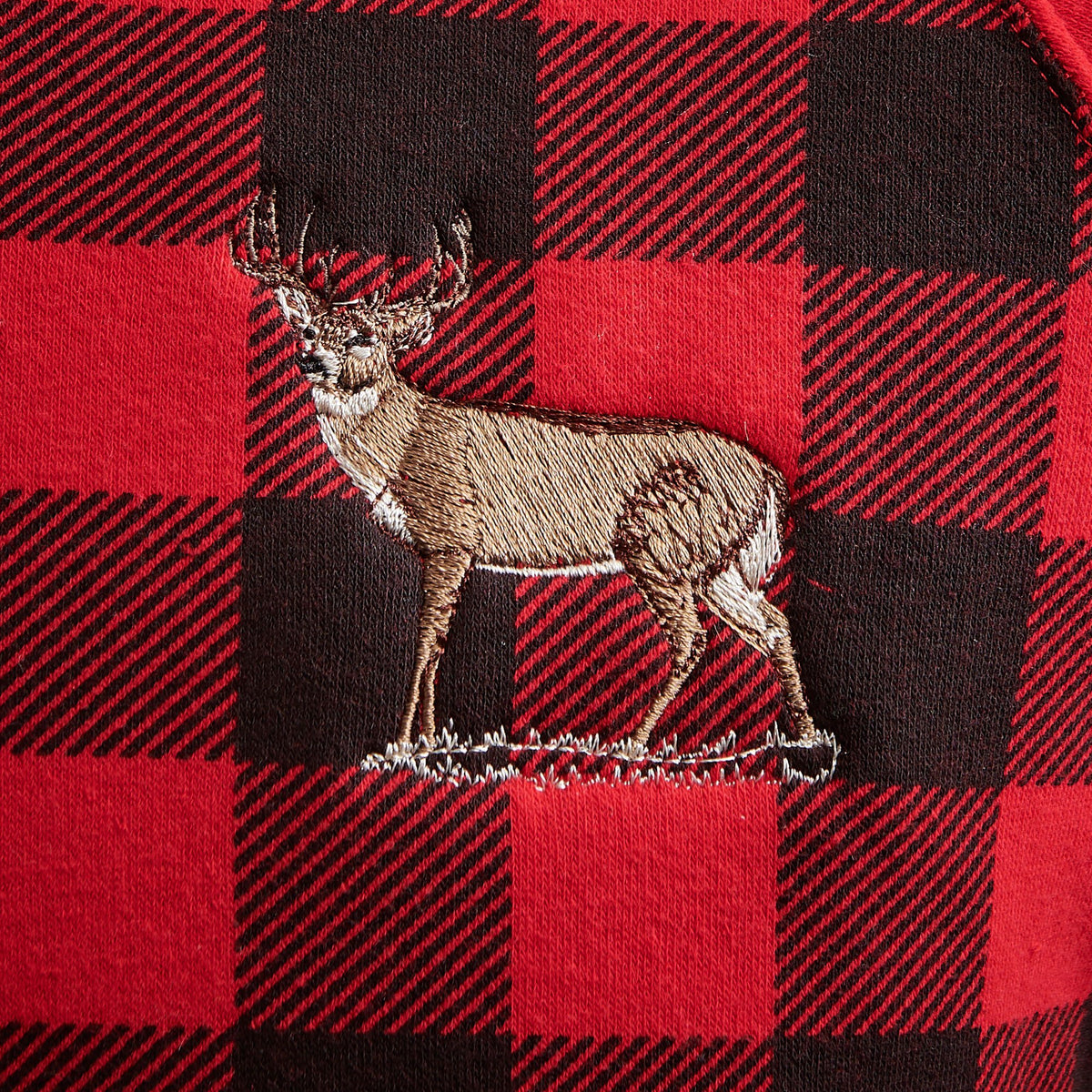 Red Plaid Whitetail Deer.