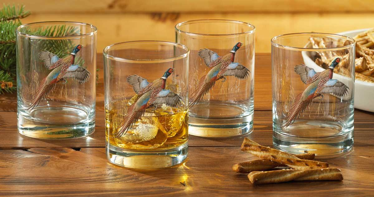 Pheasant Double Old Fashioned Glasses