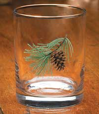 Pinecone Double Old Fashioned Glasses