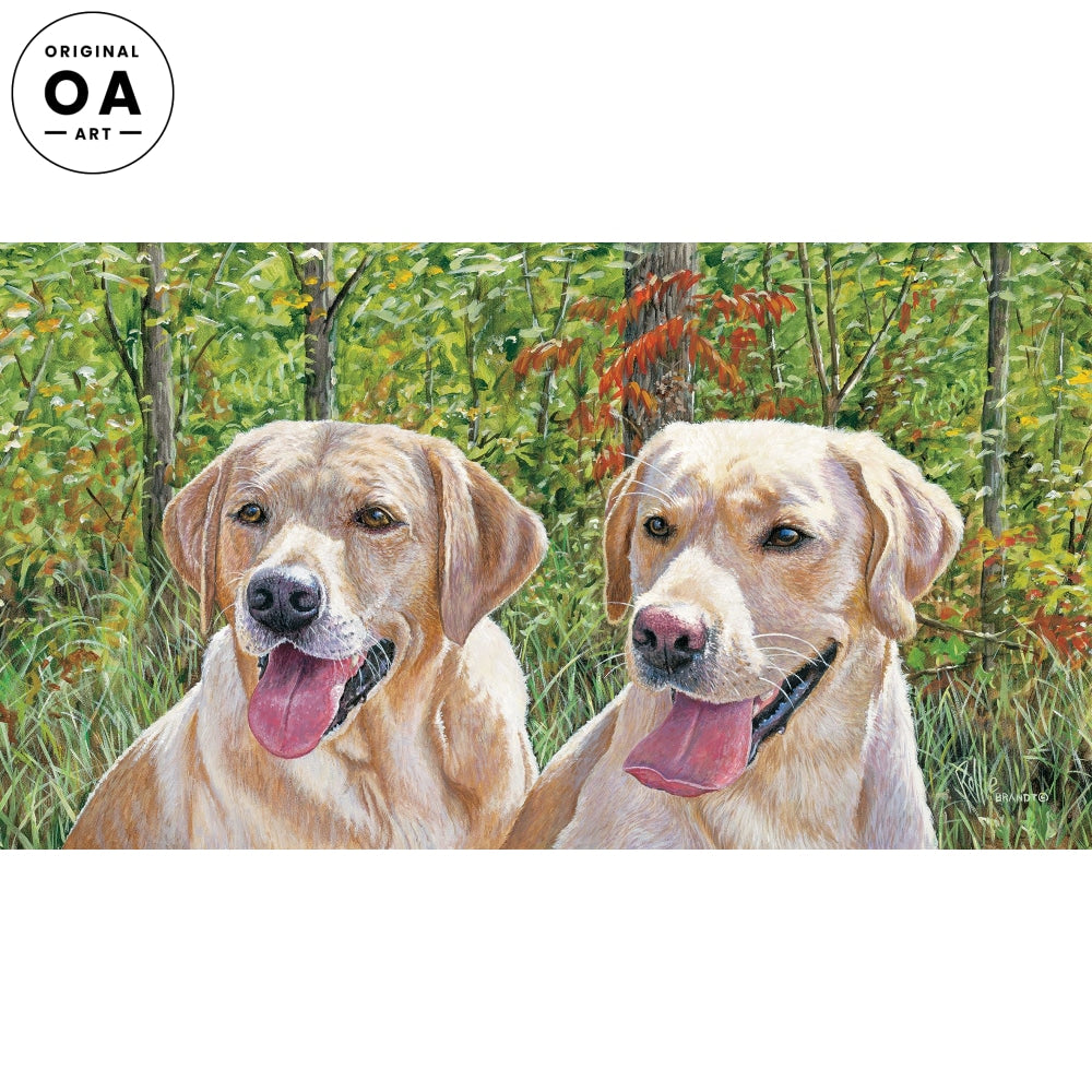 Panting Pals—Yellow Labs.