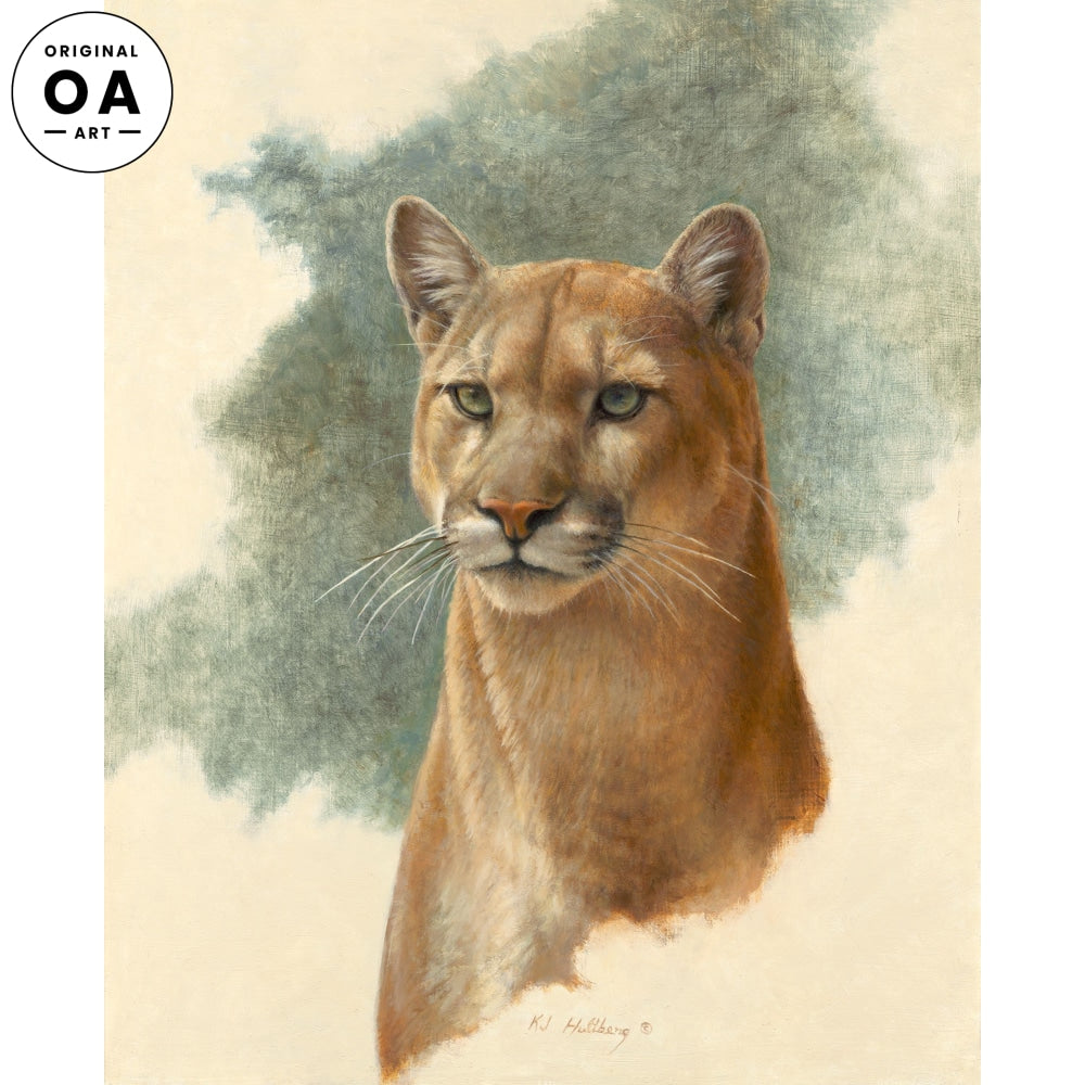 The Watcher—Cougar Original Artwork