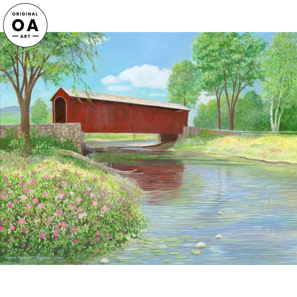 <i>Joys of Summer&mdash;Covered Bridge</i> Original Artwork