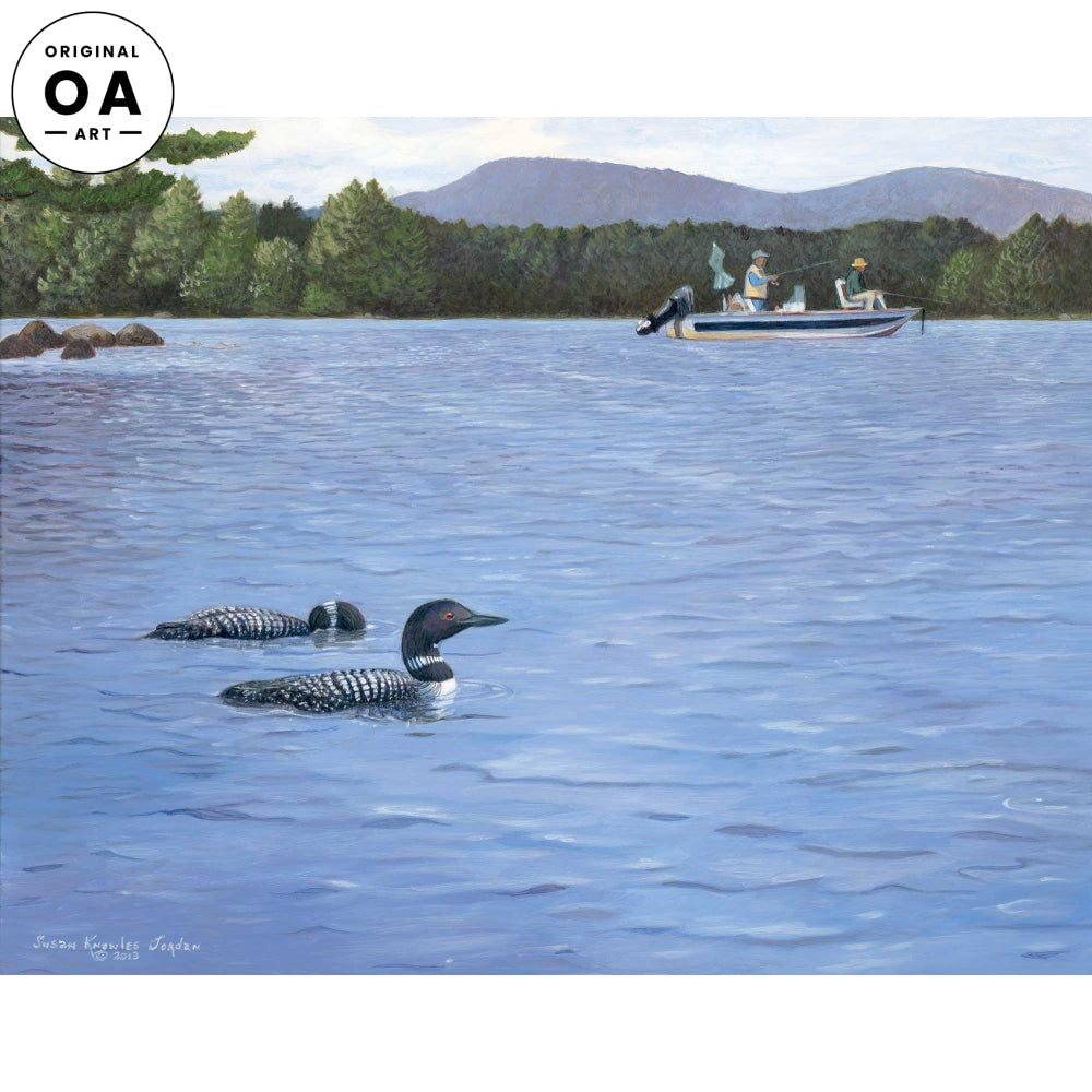 Fishing- Loon Original Acrylic Painting