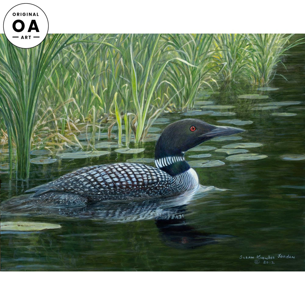 <i>Lakeside&mdash; Loon</i> Original Artwork