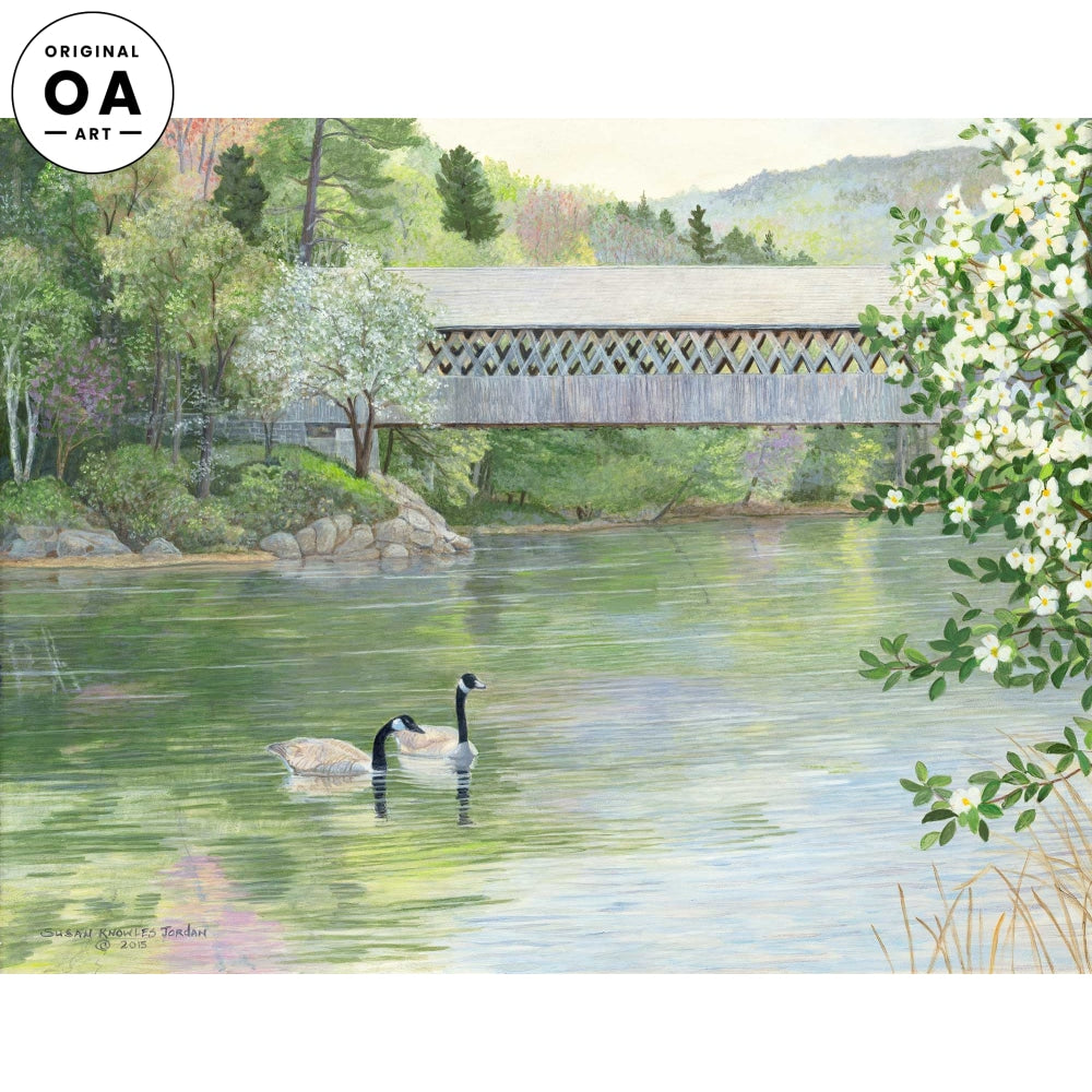 Pastel Paradise—Covered Bridge.