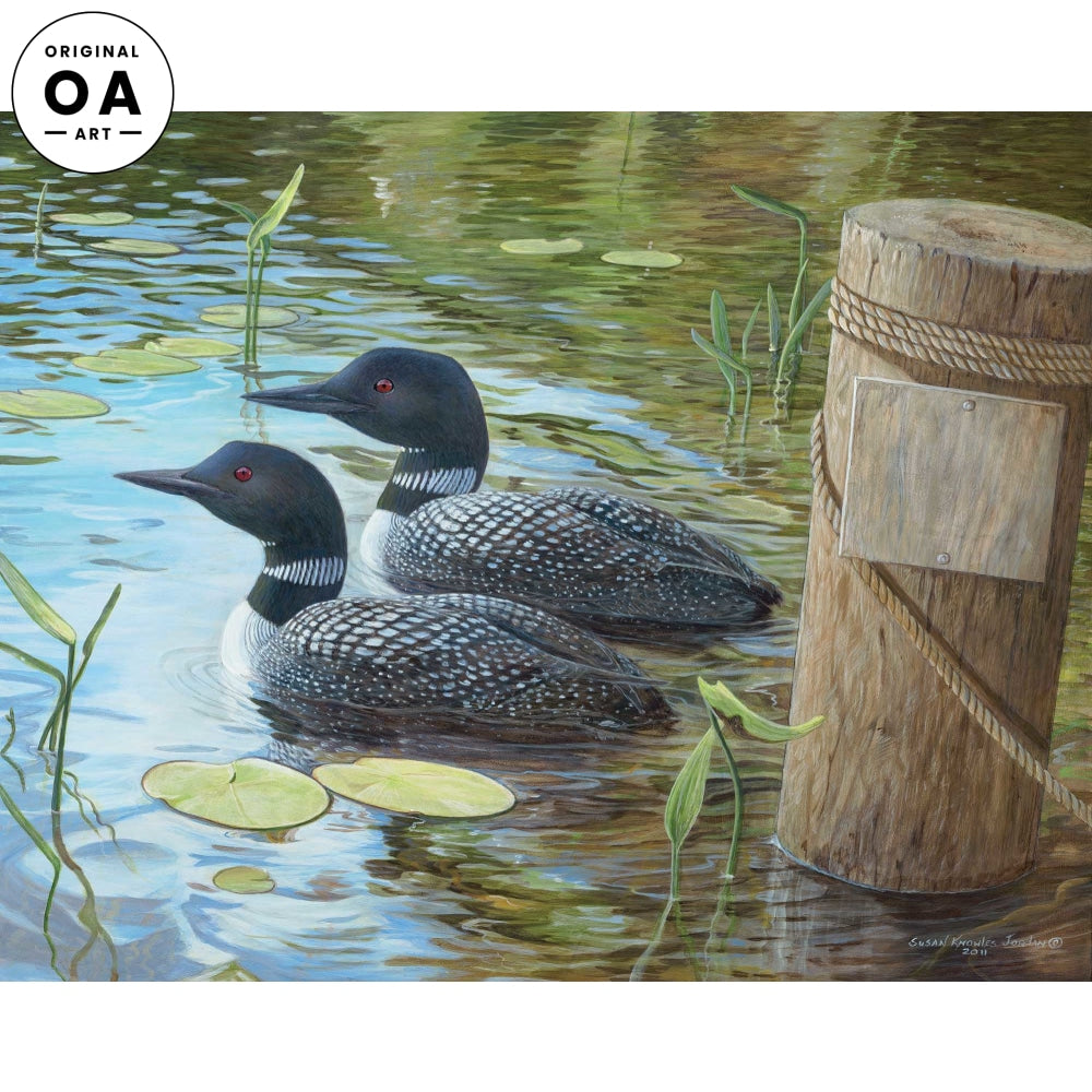 <i>Toddy Pond&mdash;Loon</i> Original Artwork