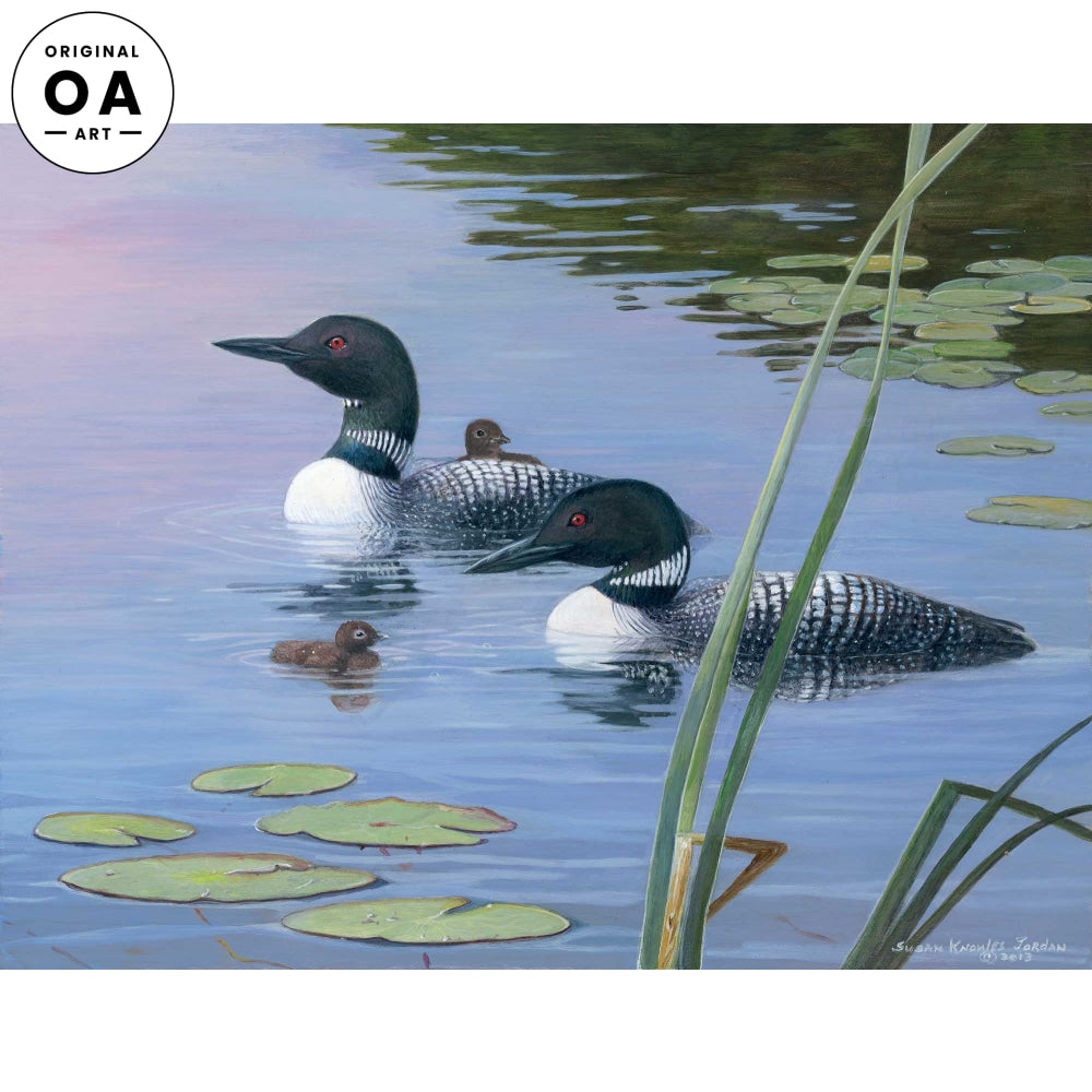 <i>Two Young Chicks&mdash;Loons</i> Original Artwork