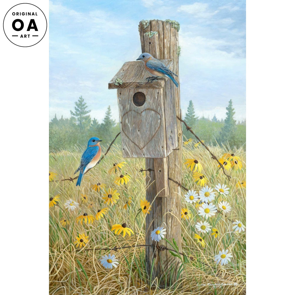 <i>Uncle Dan's Farm&mdash;Bluebird</i> Original Artwork