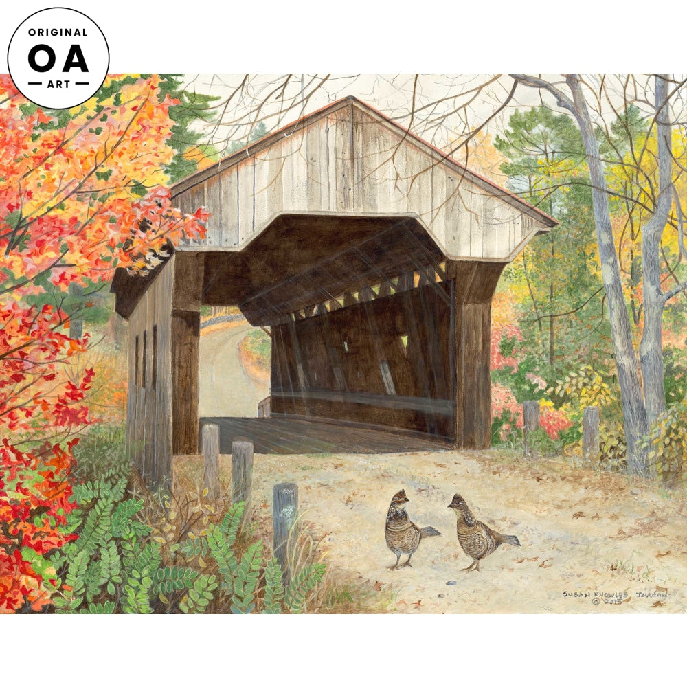 <i>Waterloo&mdash;Waterloo Bridge and Ruffed Grouse</i> Original Artwork
